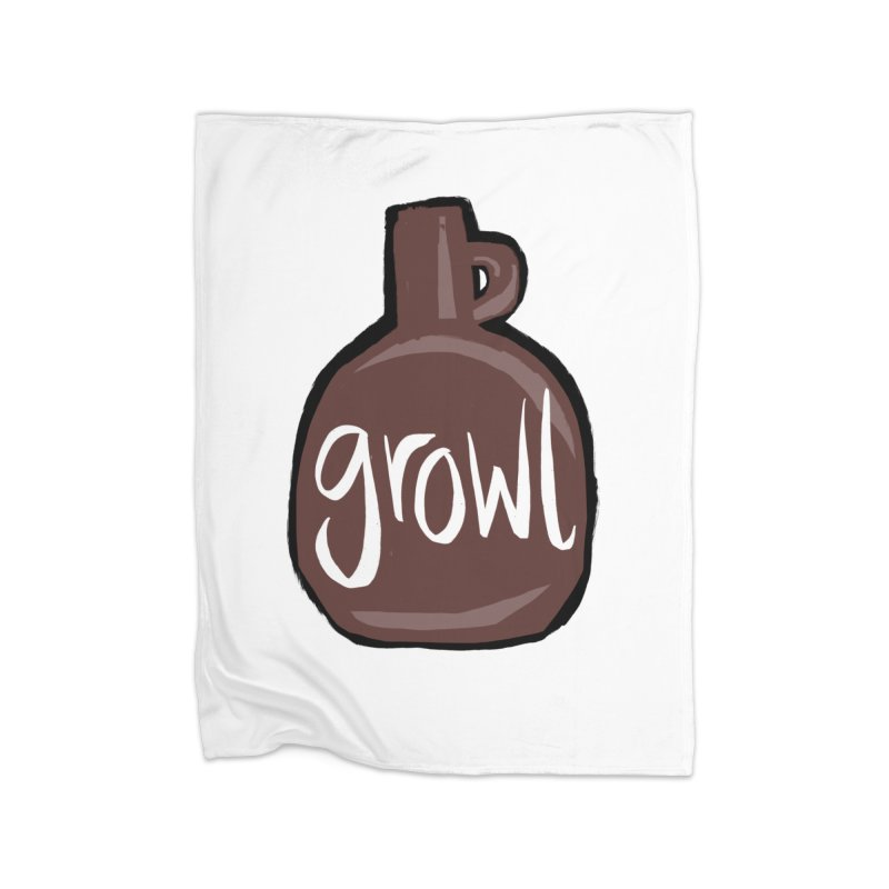 Growl Home Blanket by Renee Leigh Stephenson Artist Shop