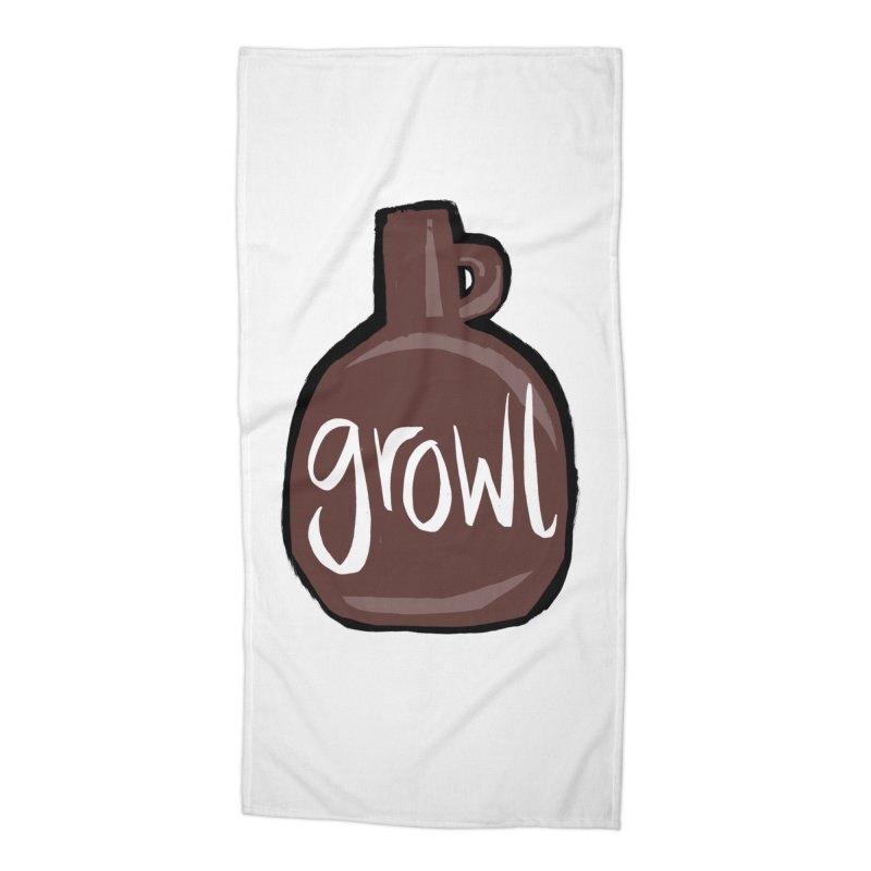 Growl Accessories Beach Towel by Renee Leigh Stephenson Artist Shop