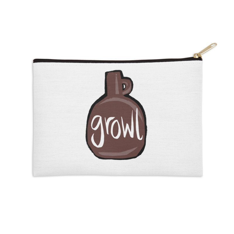 Growl Accessories Zip Pouch by Renee Leigh Stephenson Artist Shop