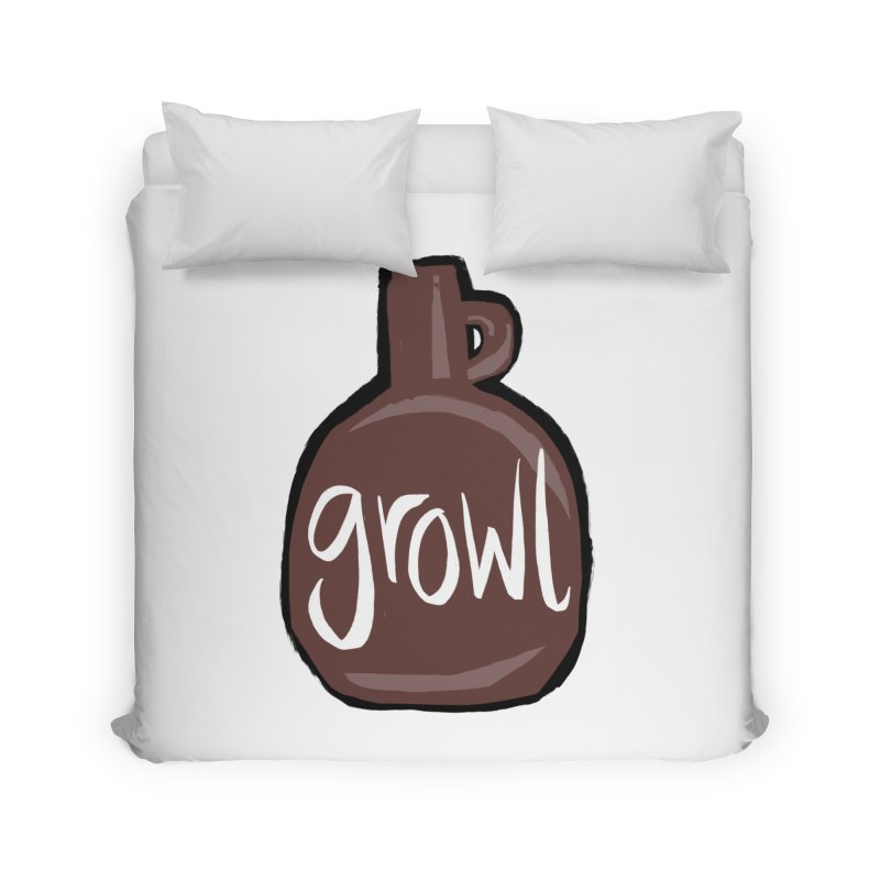 Growl Home Duvet by Renee Leigh Stephenson Artist Shop