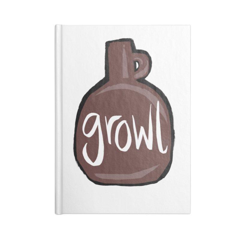 Growl Accessories Notebook by Renee Leigh Stephenson Artist Shop