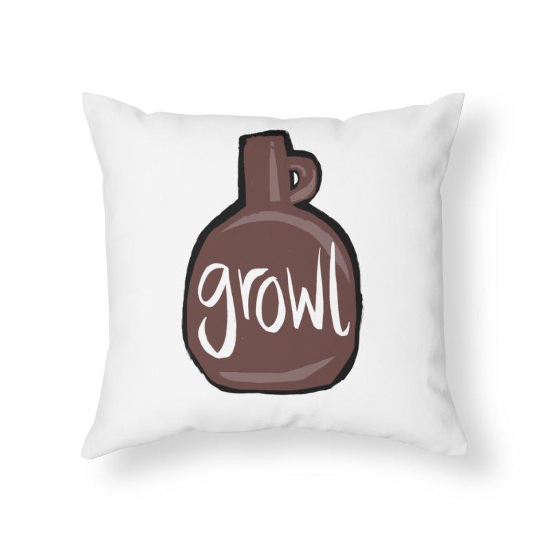 Growl Home Throw Pillow by Renee Leigh Stephenson Artist Shop