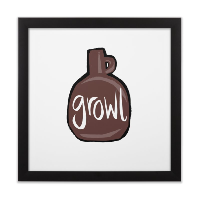Growl Home Framed Fine Art Print by Renee Leigh Stephenson Artist Shop