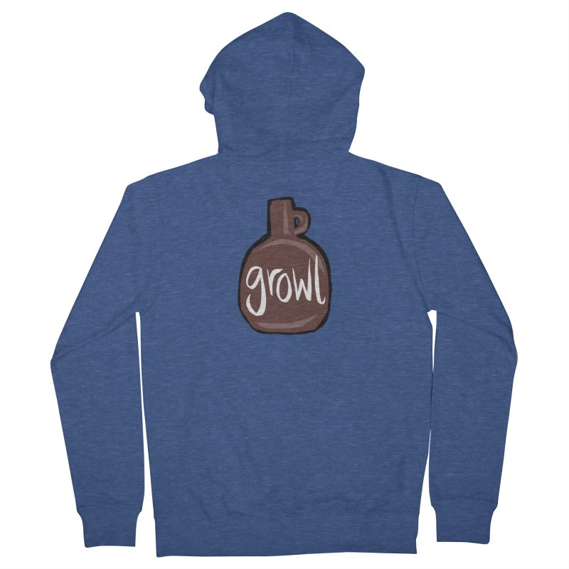 Growl Women's French Terry Zip-Up Hoody by Renee Leigh Stephenson Artist Shop