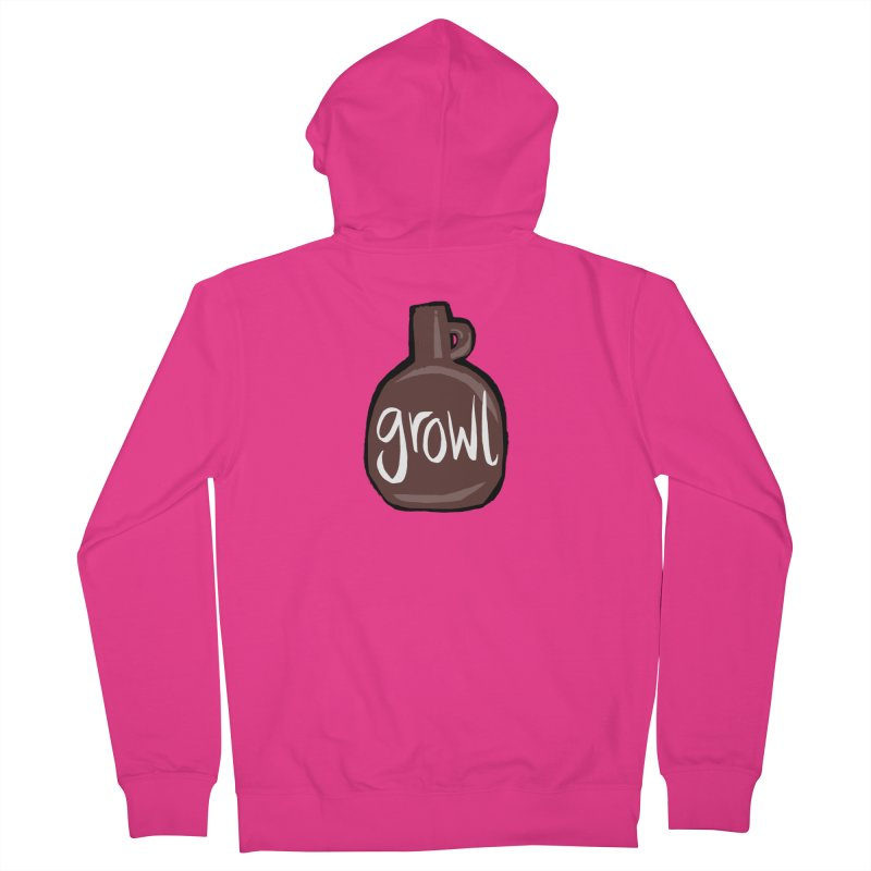 Growl Men's Zip-Up Hoody by Renee Leigh Stephenson Artist Shop