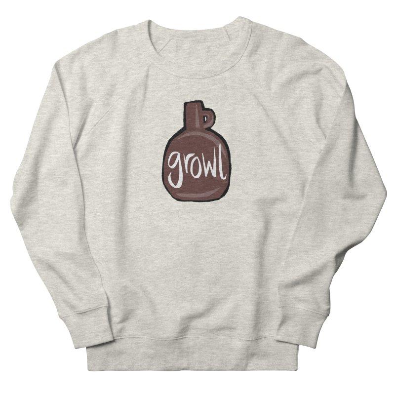 Growl Men's Sweatshirt by Renee Leigh Stephenson Artist Shop