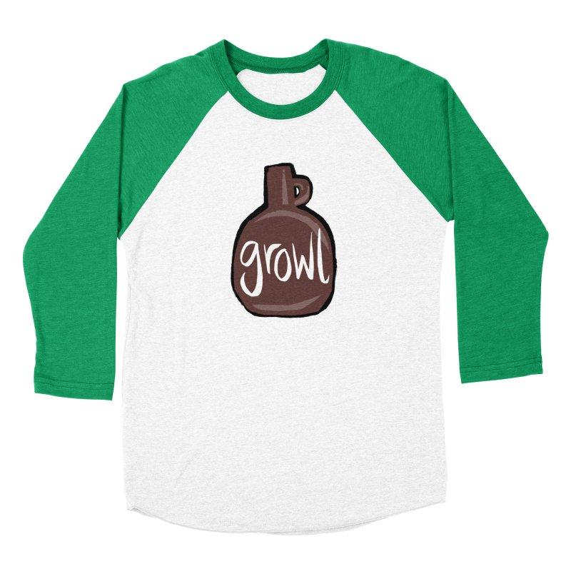 Growl Men's Baseball Triblend T-Shirt by Renee Leigh Stephenson Artist Shop