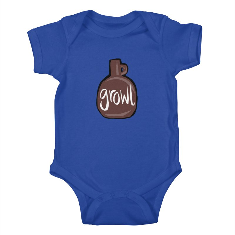 Growl Kids Baby Bodysuit by Renee Leigh Stephenson Artist Shop
