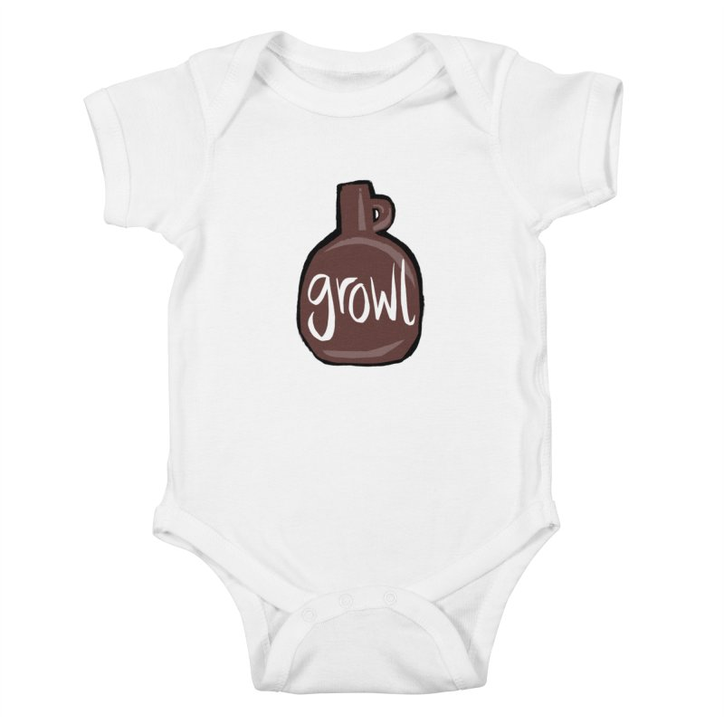Growl Kids Baby Bodysuit by Renee Leigh Stephenson Artist Shop