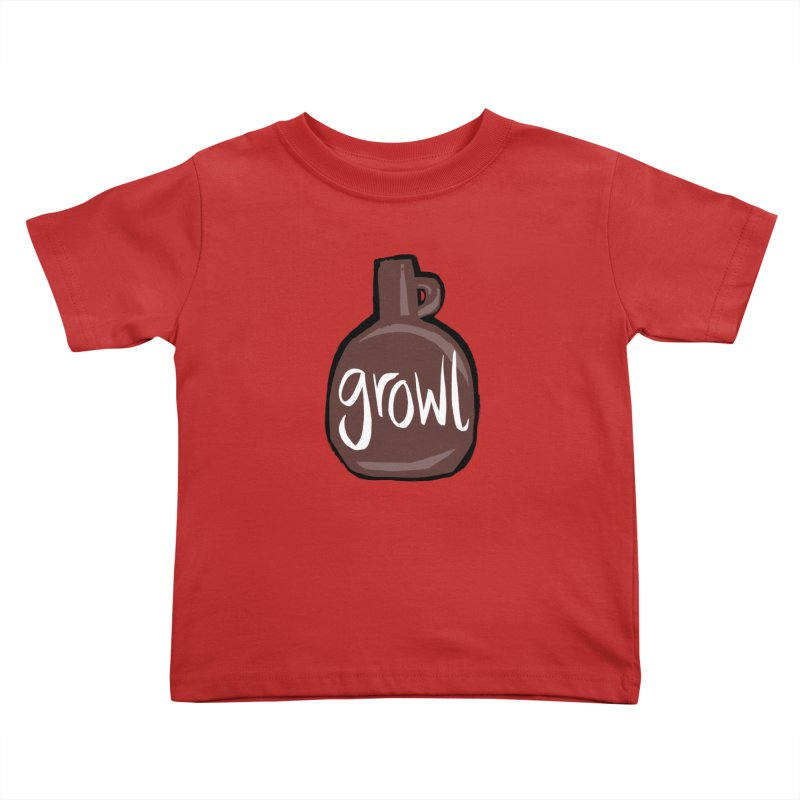 Growl Kids Toddler T-Shirt by Renee Leigh Stephenson Artist Shop
