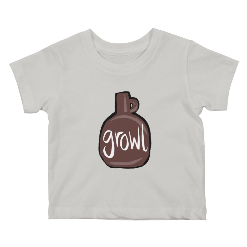 Growl Kids Baby T-Shirt by Renee Leigh Stephenson Artist Shop