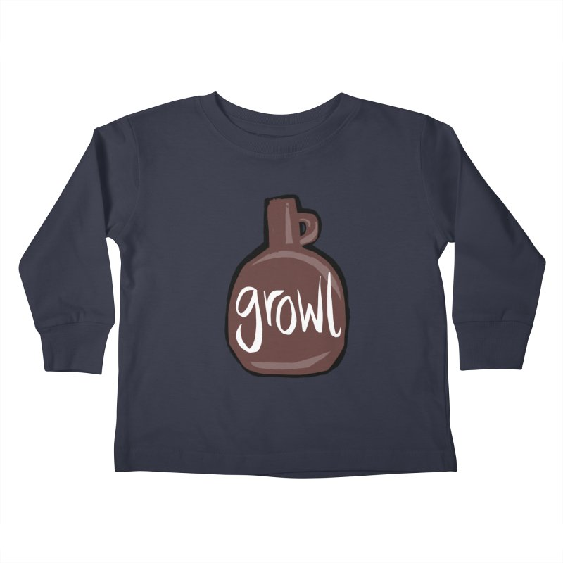 Growl Kids Toddler Longsleeve T-Shirt by Renee Leigh Stephenson Artist Shop