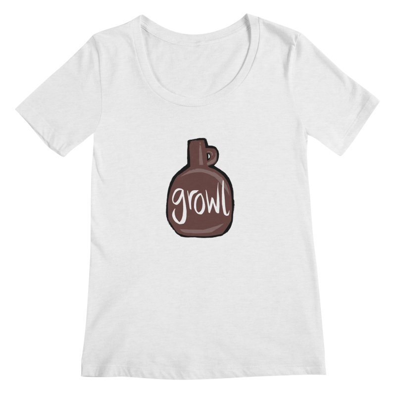Growl Women's Regular Scoop Neck by Renee Leigh Stephenson Artist Shop