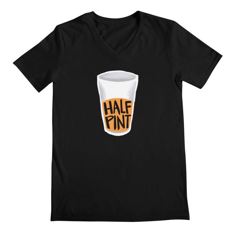 Half Pint Men's Regular V-Neck by Renee Leigh Stephenson Artist Shop