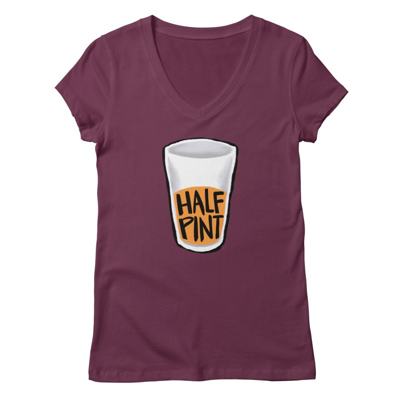Half Pint Women's Regular V-Neck by Renee Leigh Stephenson Artist Shop