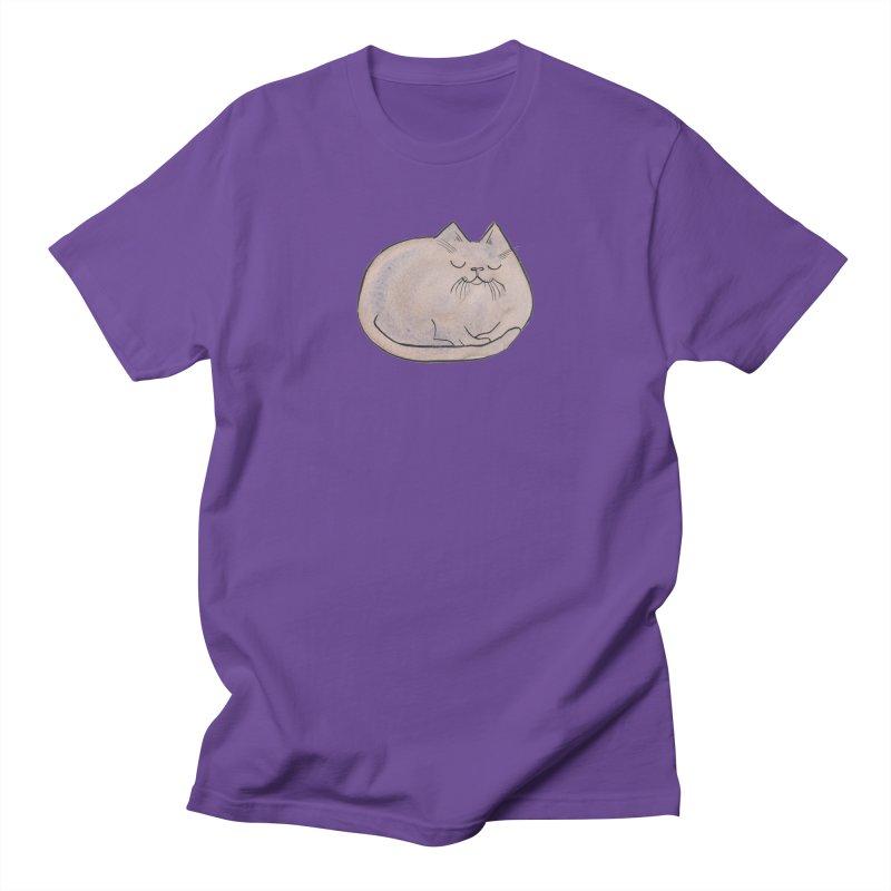 Sleepy Cat Lump Men's T-Shirt by Renee Leigh Stephenson Artist Shop