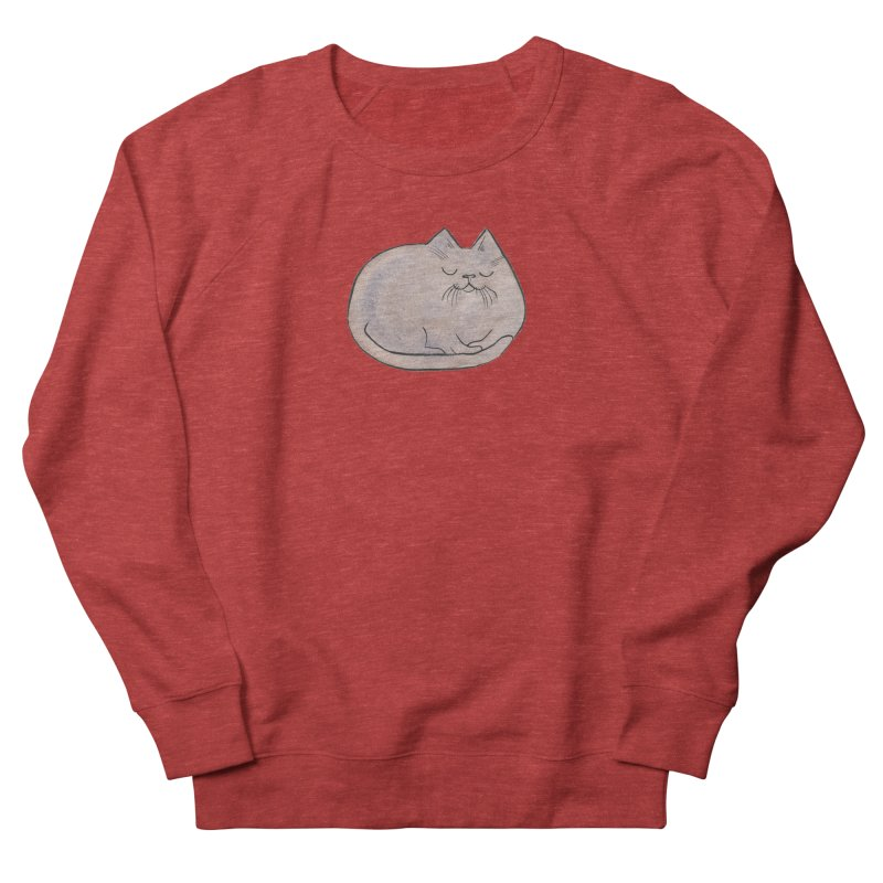 Sleepy Cat Lump Women's Sweatshirt by Renee Leigh Stephenson Artist Shop