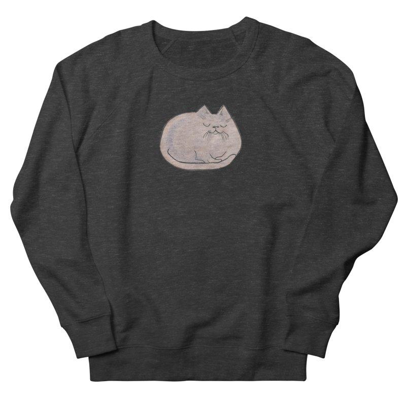 Sleepy Cat Lump Men's Sweatshirt by Renee Leigh Stephenson Artist Shop