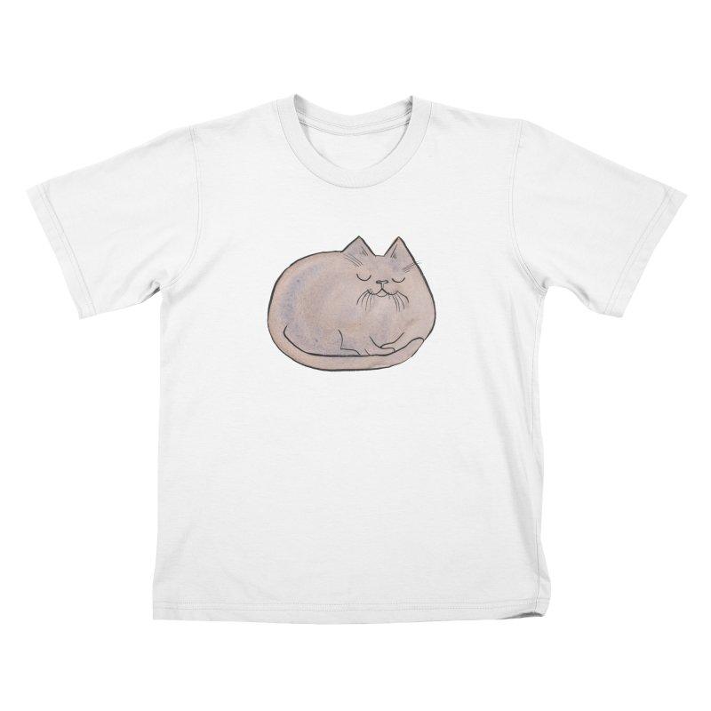 Sleepy Cat Lump Kids  by Renee Leigh Stephenson Artist Shop