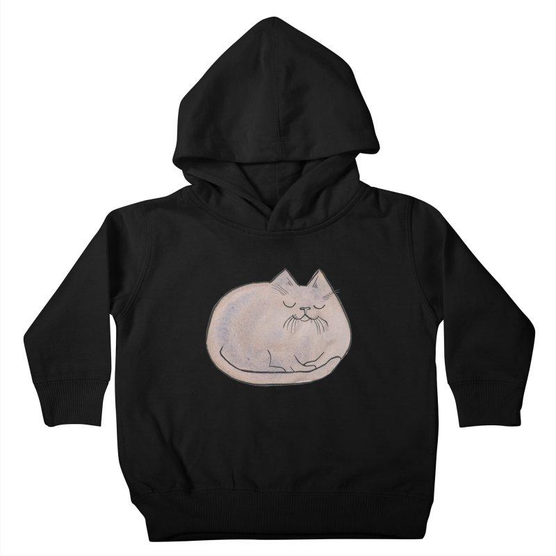 Sleepy Cat Lump Kids Toddler Pullover Hoody by Renee Leigh Stephenson Artist Shop