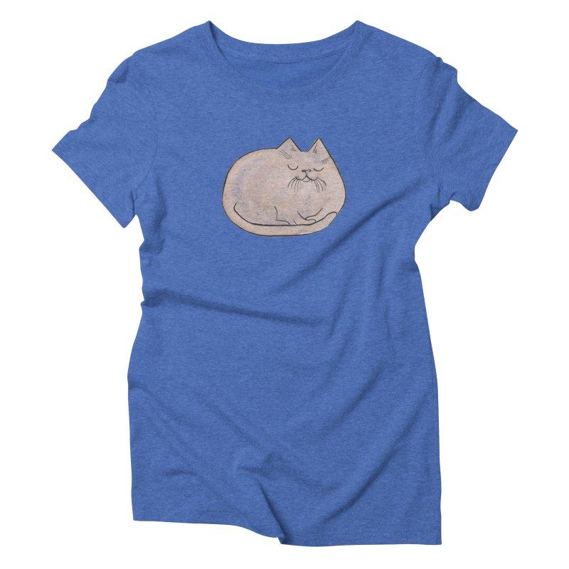 Sleepy Cat Lump Women's  by Renee Leigh Stephenson Artist Shop