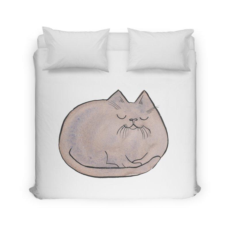 Sleepy Cat Lump Home  by Renee Leigh Stephenson Artist Shop