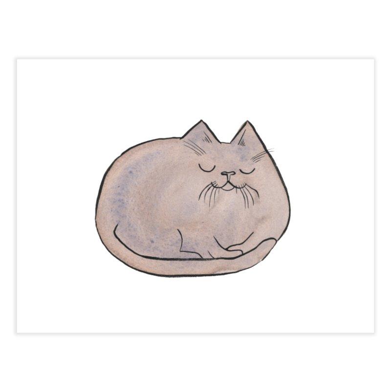 Sleepy Cat Lump Home Fine Art Print by Renee Leigh Stephenson Artist Shop