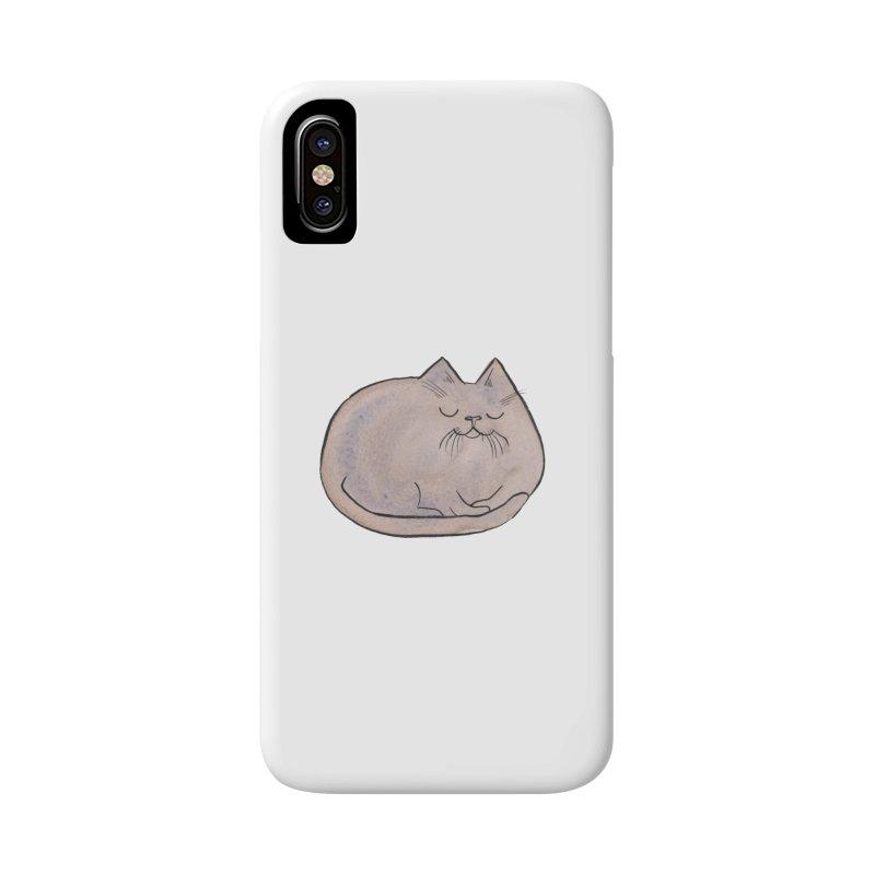 Sleepy Cat Lump Accessories Phone Case by Renee Leigh Stephenson Artist Shop