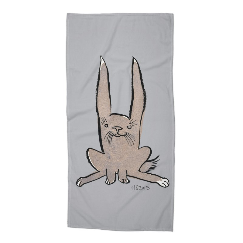 Hoppy Little Rabbit Accessories Beach Towel by Renee Leigh Stephenson Artist Shop