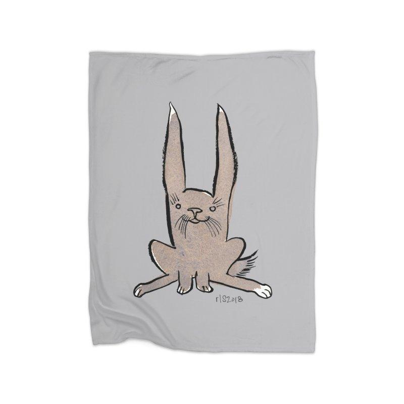 Hoppy Little Rabbit Home Blanket by Renee Leigh Stephenson Artist Shop