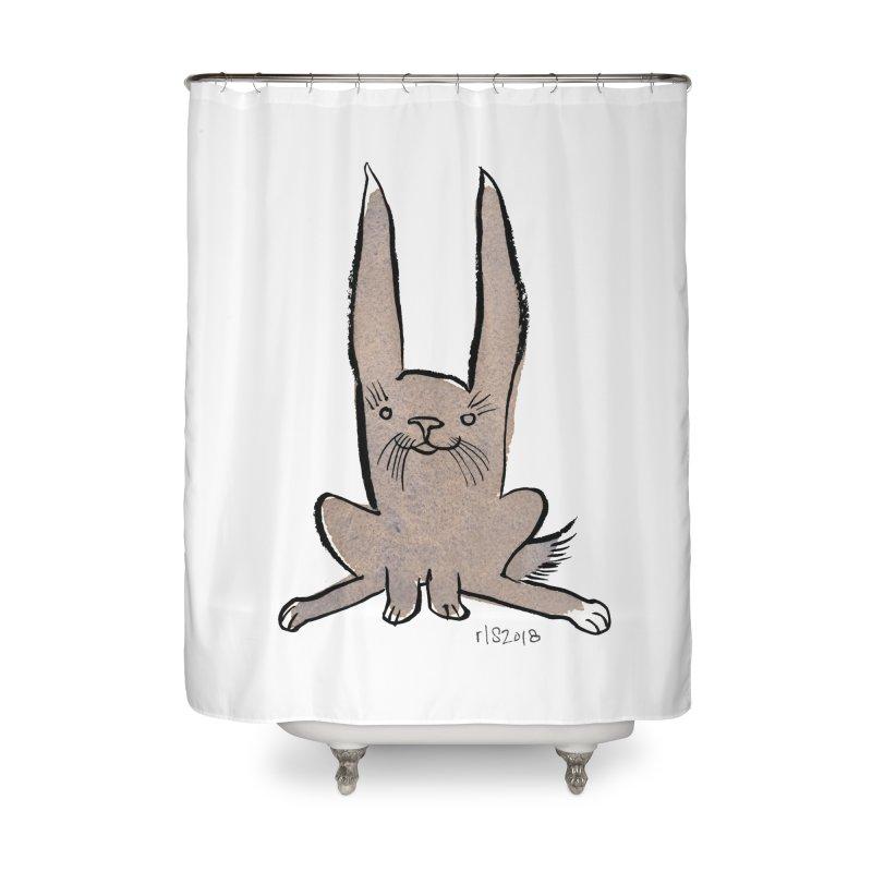 Hoppy Little Rabbit Home Shower Curtain by Renee Leigh Stephenson Artist Shop