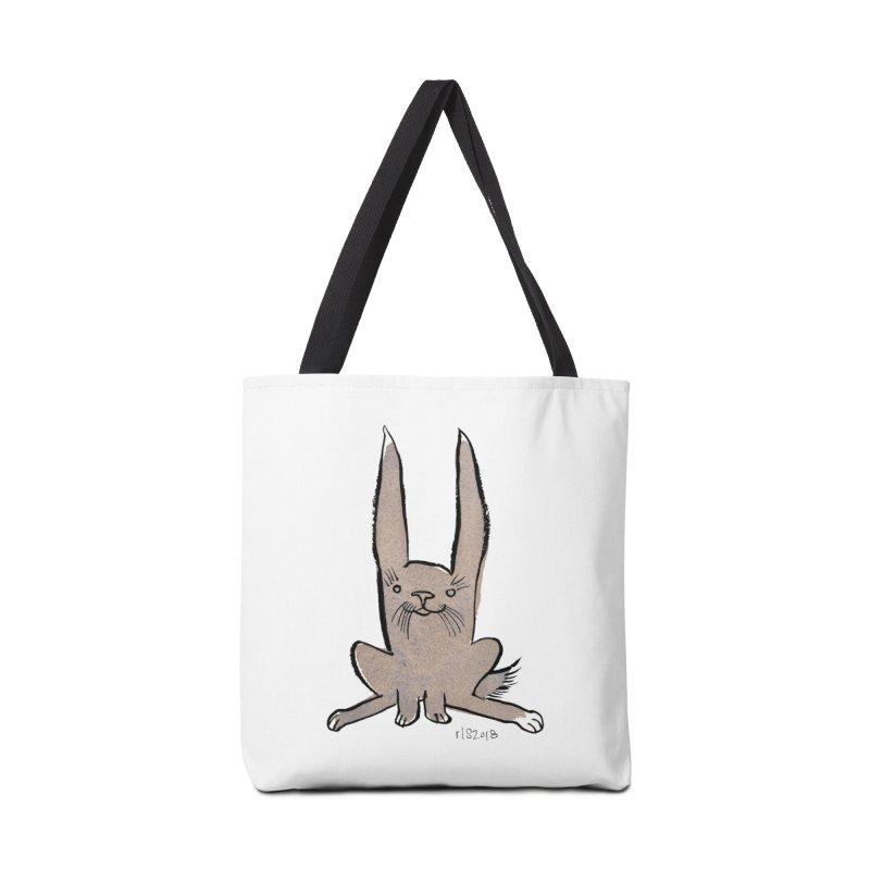 Hoppy Little Rabbit Accessories Bag by Renee Leigh Stephenson Artist Shop