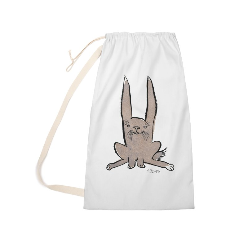 Hoppy Little Rabbit Accessories Laundry Bag Bag by Renee Leigh Stephenson Artist Shop