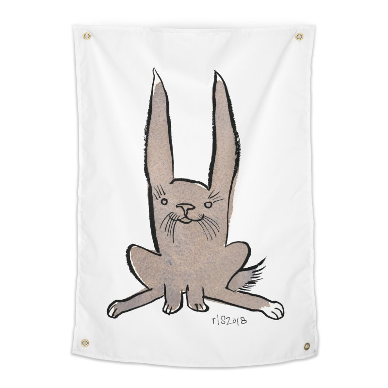 Hoppy Little Rabbit Home Tapestry by Renee Leigh Stephenson Artist Shop