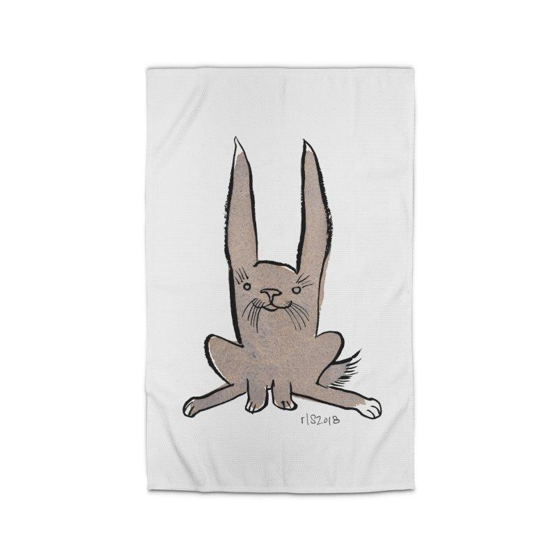 Hoppy Little Rabbit Home Rug by Renee Leigh Stephenson Artist Shop