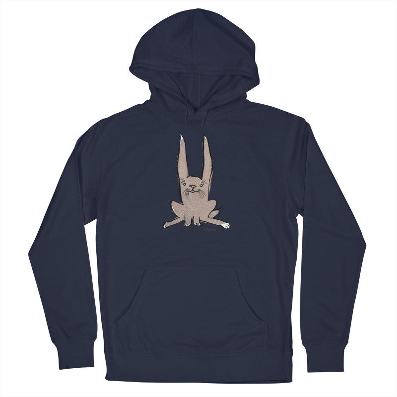 Hoppy Little Rabbit Men's Pullover Hoody by Renee Leigh Stephenson Artist Shop