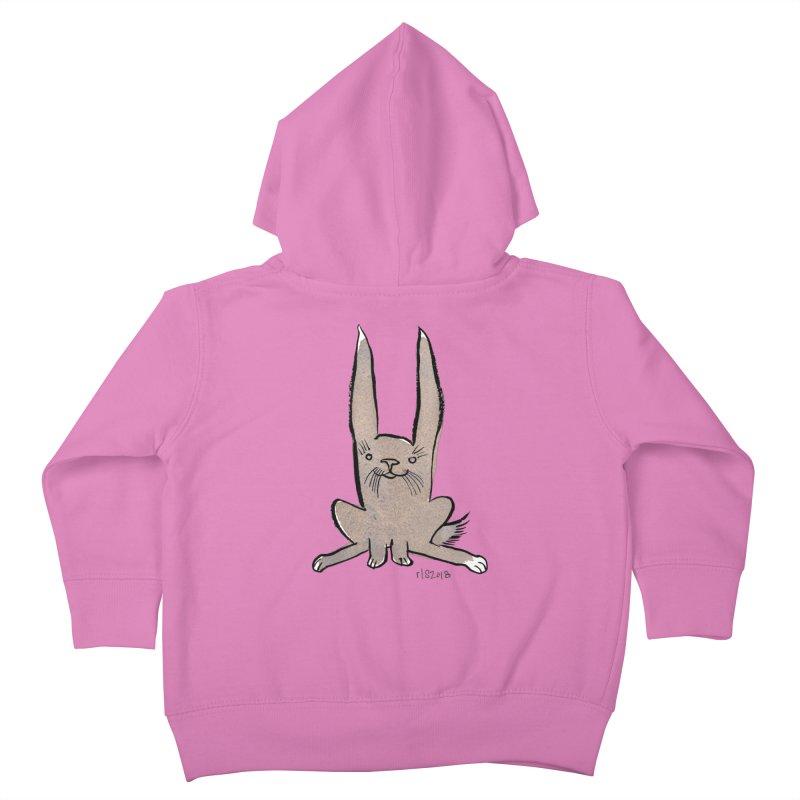 Hoppy Little Rabbit Kids Toddler Zip-Up Hoody by Renee Leigh Stephenson Artist Shop