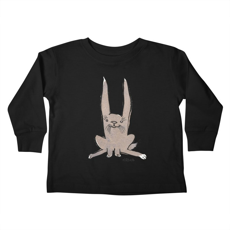 Hoppy Little Rabbit Kids Toddler Longsleeve T-Shirt by Renee Leigh Stephenson Artist Shop