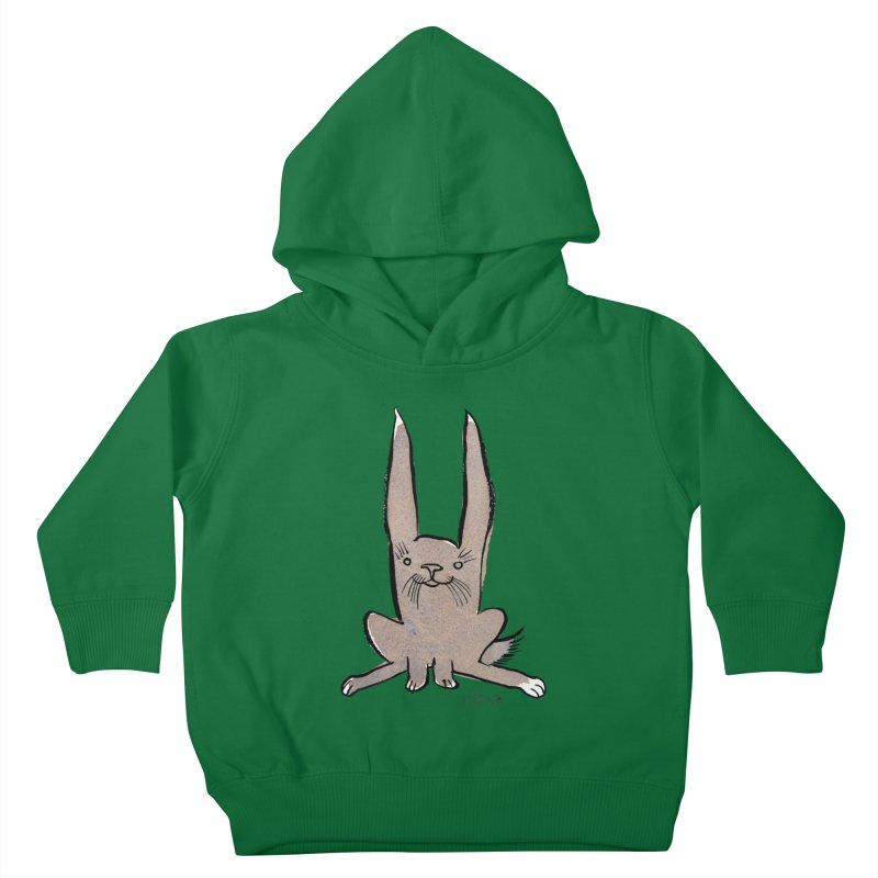 Hoppy Little Rabbit Kids Toddler Pullover Hoody by Renee Leigh Stephenson Artist Shop