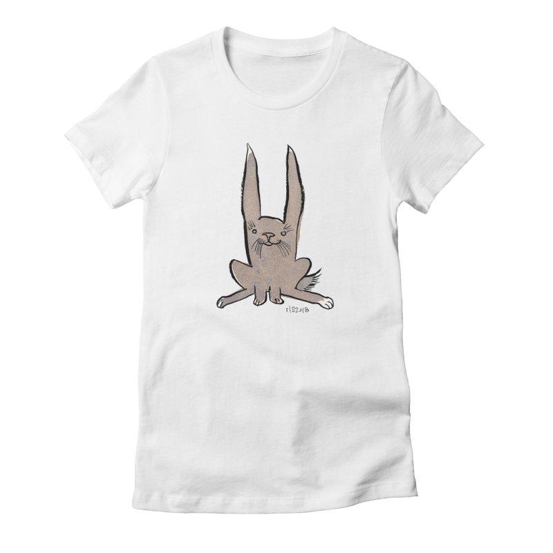 Hoppy Little Rabbit Women's  by Renee Leigh Stephenson Artist Shop