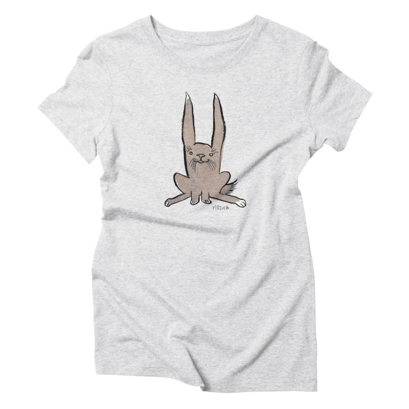 Hoppy Little Rabbit Women's Triblend T-Shirt by Renee Leigh Stephenson Artist Shop