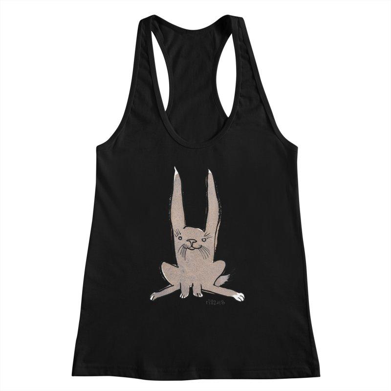 Hoppy Little Rabbit Women's Racerback Tank by Renee Leigh Stephenson Artist Shop