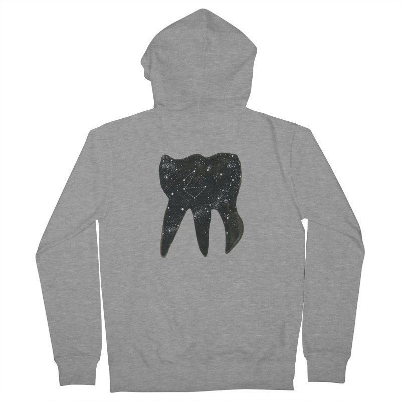 Cosmic Tooth in Men's Zip-Up Hoody Heather Graphite by Renee Leigh Stephenson Artist Shop