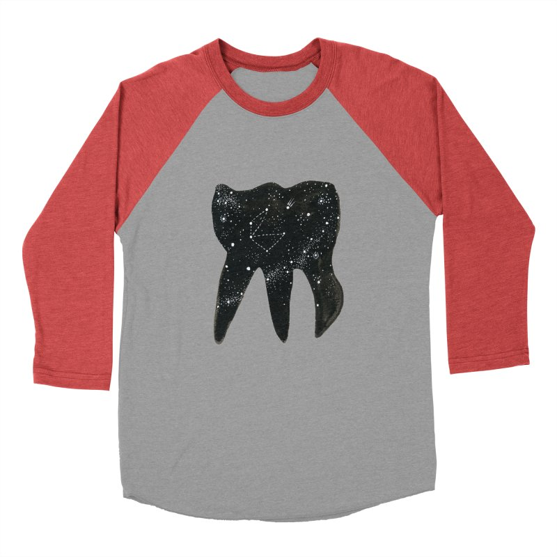 Cosmic Tooth Men's Baseball Triblend T-Shirt by Renee Leigh Stephenson Artist Shop