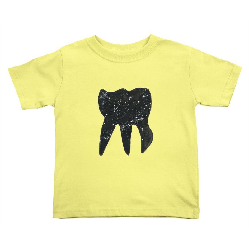 Cosmic Tooth Kids Toddler T-Shirt by Renee Leigh Stephenson Artist Shop