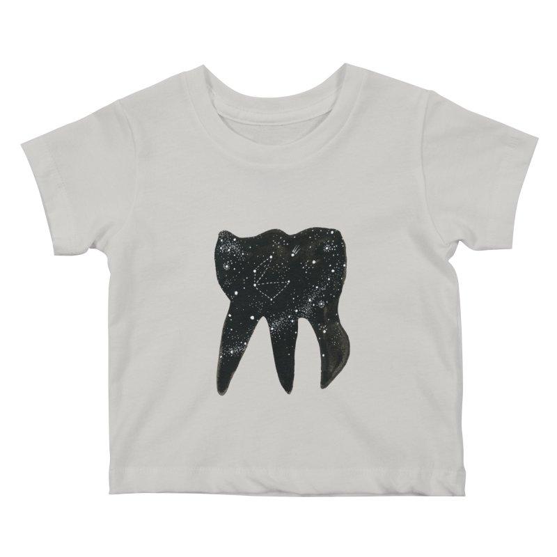 Cosmic Tooth Kids Baby T-Shirt by Renee Leigh Stephenson Artist Shop