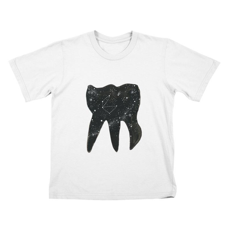 Cosmic Tooth Kids T-shirt by Renee Leigh Stephenson Artist Shop