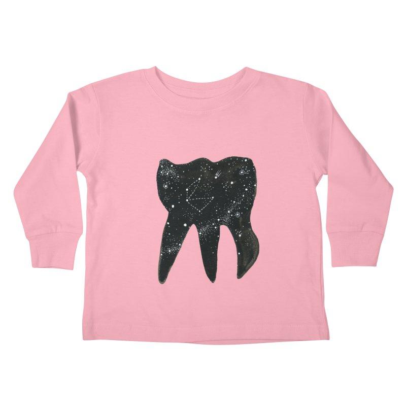 Cosmic Tooth Kids Toddler Longsleeve T-Shirt by Renee Leigh Stephenson Artist Shop