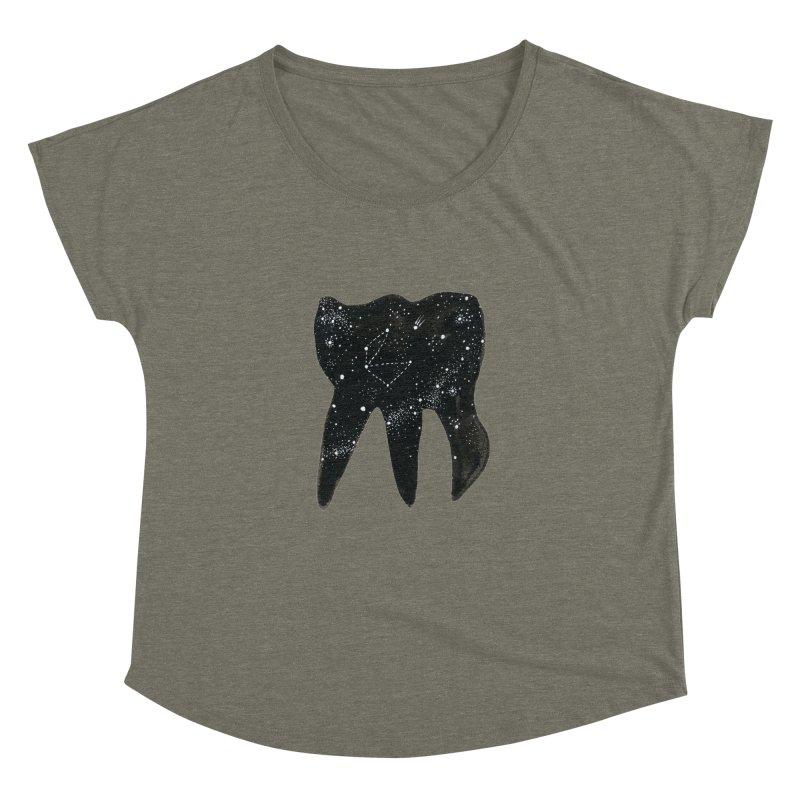Cosmic Tooth Women's Dolman by Renee Leigh Stephenson Artist Shop
