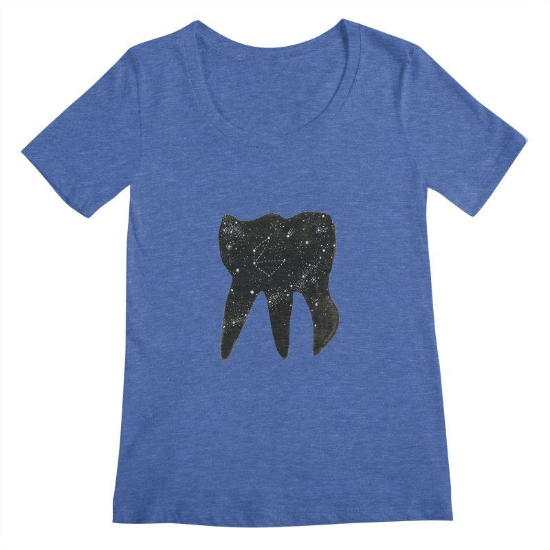Cosmic Tooth Women's Scoopneck by Renee Leigh Stephenson Artist Shop